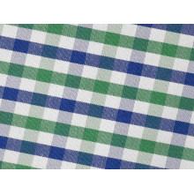 Vert/Marine vérifie confortable fils teints tissu pour chemises