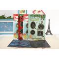 Fuentes de Navidad multicolor Scratch arte tarjetas