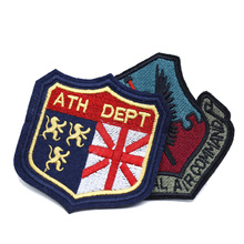 Custom private brand name design embroidery badge patches