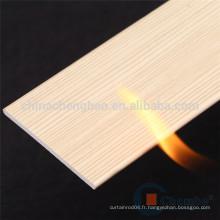 Hotsale design 50mm ignifugé faux stores en bois