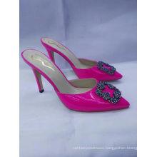 Pink PU Leather High Heel Sandals (G-31)