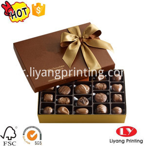cardboard chocolate box with lid