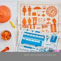 hight quality car pattern orange and blue kitchen towel tea towel TT-038