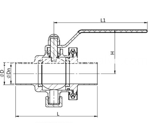 DIN Sanitary Welded Non-retention Ball Valve