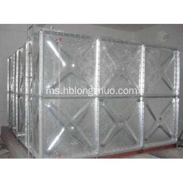 Tangki Air Logam Galvanized Steel Tanked Water Storage Pressed