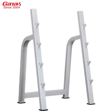 Ganas Gym Fitness Rack de 4 pares con barra