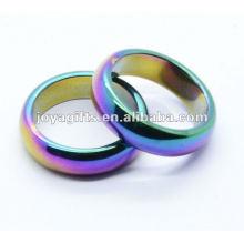 8mm arco-íris magnético Hematite Domed anel