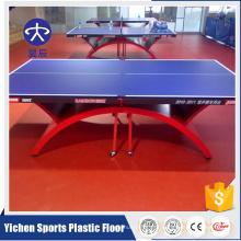 Uso interno e piso de plástico de ténis de mesa de corte à prova de som