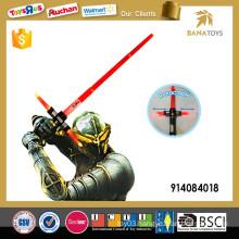 Telescopic laser light sword with sound
