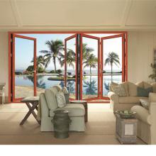Роскошные высокое качество современный дом алюминиевые двери умные двери створки Bi (фут-Д75)