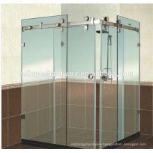 180 degrss glass sliding door system for shower room