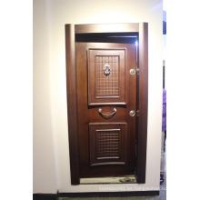 Puerta de madera de Ghana y China puerta de madera puerta de metal y puertas metálicas para ghana