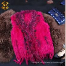 Veste de fourrure en cuir véritable en cuir de haute qualité fabriquée en Chine