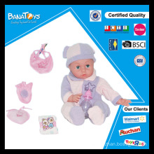 Lovely electronic baby doll with baby diaper