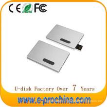 Hot Custom Logo Metal USB Flash Drive Tarjeta de crédito USB