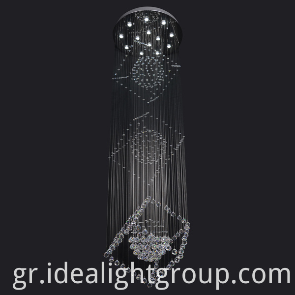 crystal led hanging lamps