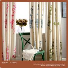 Tissu en lin en coton prêt Les rideaux royaux couvrent des toiles de mariage bon marché rideaux faits à la main rideaux