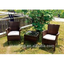 Beliebte Patio Wasserdichte klare Plastik Couchtische und Stühle