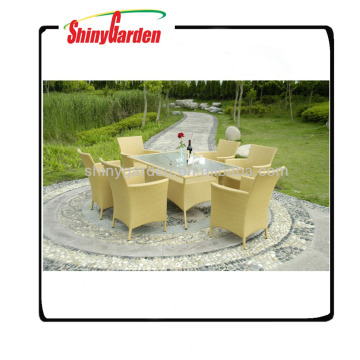Mobília ao ar livre do restaurante de vime do rattan, mobília ao ar livre luxuosa do rattan, venda do furniture do jardim do rattan