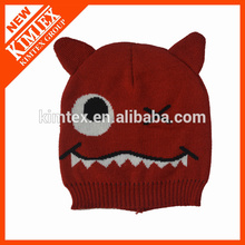 Hot sale cute custom cat ear knitted beanie
