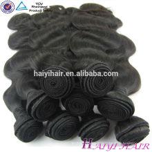 Фабрика Оптовая продажа 12-дюймовый 30-дюймовый толстые концы тела волна Девы Малайзии волосы