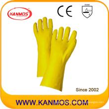 El PVC amarillo sumergió los guantes de trabajo industriales del guantelete de la seguridad de la mano (51207)