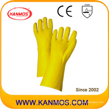 Yellow PVC Dipped Industrial Hand Safety Gauntlet Work Gloves (51207)