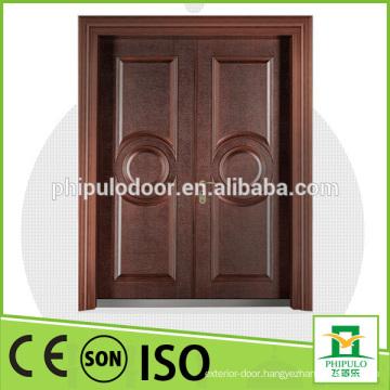 Fashionable design cast aluminum anti theft metal door with bullet proof