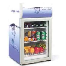 mini refrigerador de mesa mini refrigerador mini geladeira elétrica com porta de vidro
