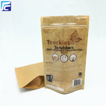 Candy transparent zip lock Kraft Paper Bags