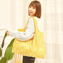 High quality RPET Nylon Reusable Polyester foldable shopping bag for promotional