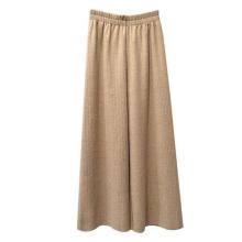 Новые модные вязаные расклешенные брюки оптом