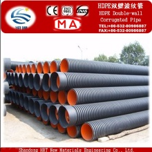 High Density Polyethylene HDPE Double Wall Corrugated Pipe