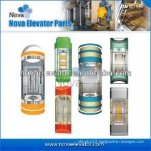 Machine Room Elevator Cabins, Luxury Residential Observation Elevator Cabin