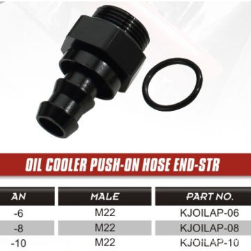 oil cooler push-on hose END-STR