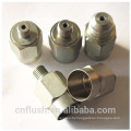 Custom made metal components with different surface treatment