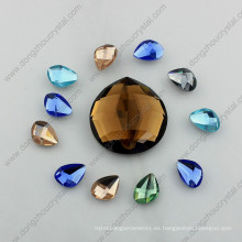 Piedras de cristal de la joyería del espejo redondo posterior plano para la fabricación de la joyería