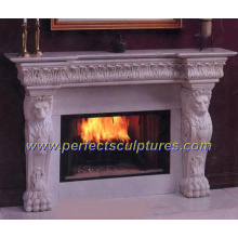 Stone Marble Fireplace for Indoor Granite Fireplace Mantel (QY-LS014)