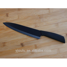 8 inch high quality black blade ceramic knife for professional chef