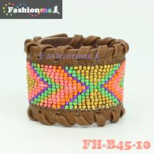 FashionMe cuir perlé wrap bracelets