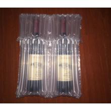 Bolsa de embalaje acolchada para botella de vino dos