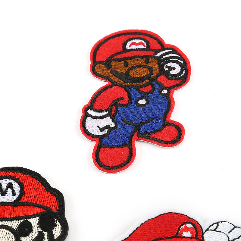 Custom Mario Embroidery Patch