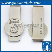 clip de dinero de aluminio cromado