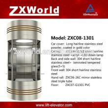 Vidro completo panorâmico elevador de passageiros ZXC08-1301