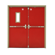 AS1905 Commercial Interior hotel 30mins stainless fire proof rated steel doors with glass