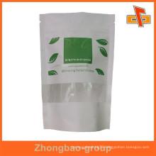Customized print high-grade white zipper pouch paper zip lock bag