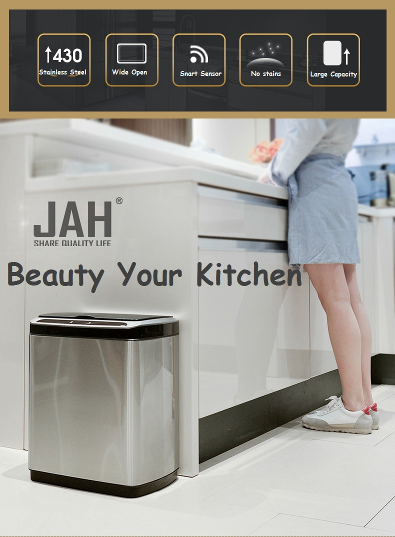 Induction Sensor trash can for kitchen