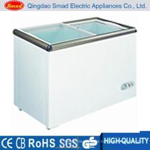 congelador pequeno do armário de indicador do refrigerador do gelado do tamanho pequeno