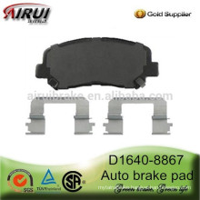 D1640-8867 semi-metallic and ceramic auto brake pad for Dodge Dart 2013 year