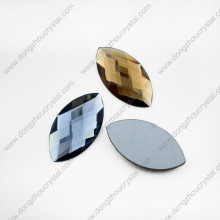 Colored Machine Cut Navette Loose Glass Stone Beads